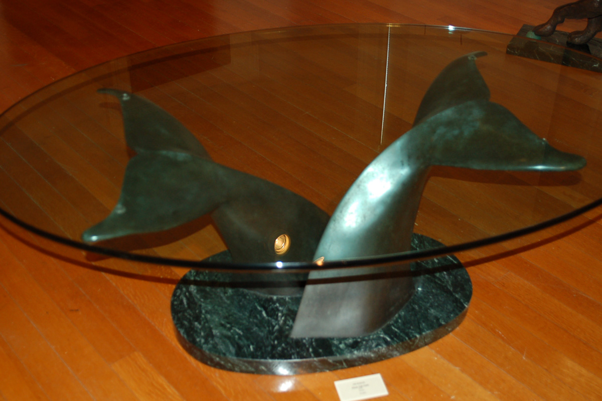 Whale Tail Table Jim Sardonis Natural Forms