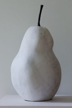 Carrara Marble Pear
